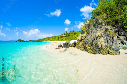 Spoed Foto op Canvas Caraïben Beautiful Caribbean beach