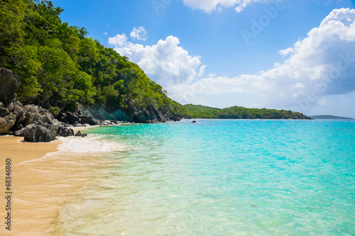 Foto op Plexiglas Caraïben Beautiful Caribbean beach