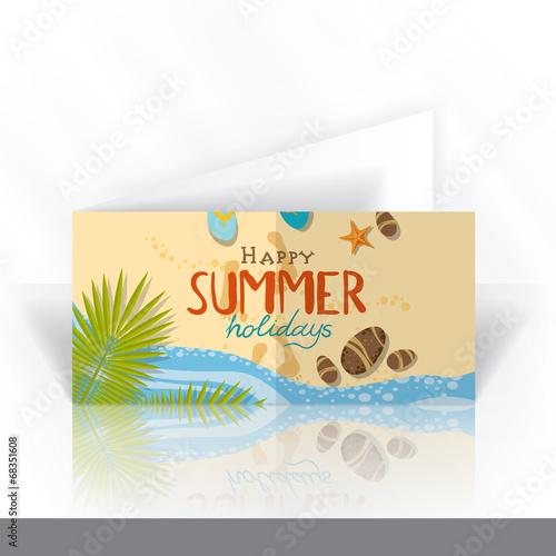 Fototapeta Invitation Card Design Template