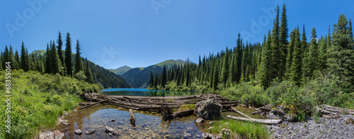 mountain lake panorama #68355064