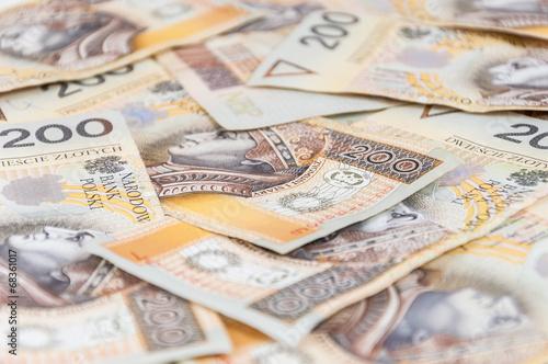 Fotomural Banknotes of 200 PLN - polish zloty