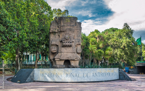 Photo Entrance to the National Museum of Anthropology in Mexico city