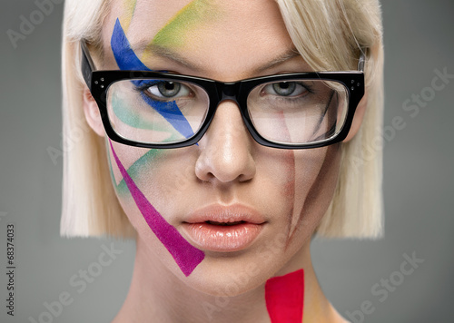 Obraz w ramie High fashion look, portrait with glasses
