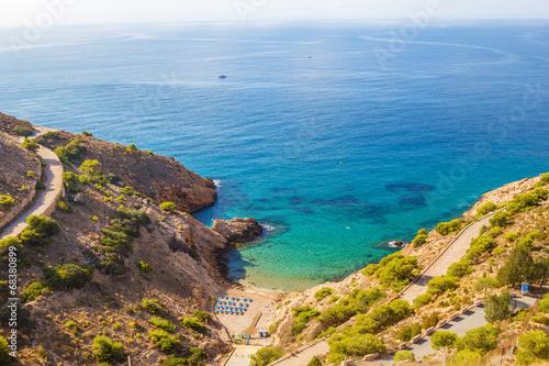 Small Ti Ximo beach in Benidorm, Spain.