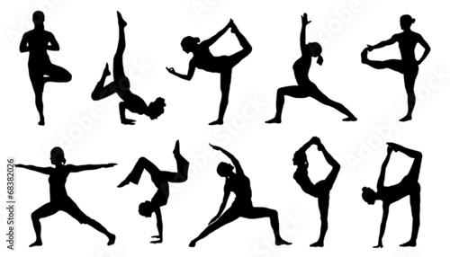 Foto yoga silhouettes