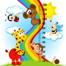 Baby Height Measure (in Original Proportions 1 To 4) - Vector