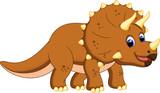 Fototapeta Dinusie - Cute triceratops cartoon