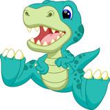 Fototapeta Dinusie - Cute baby dinosaur cartoon