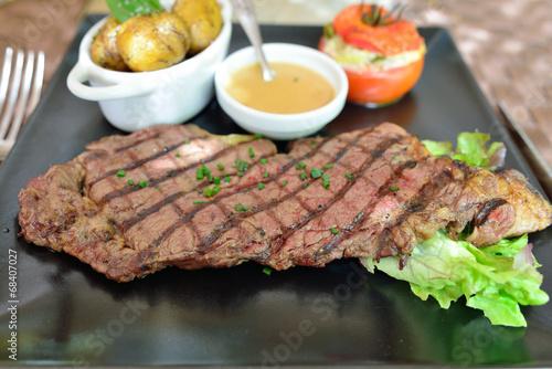 Fotografie, Obraz  Entrecote steak