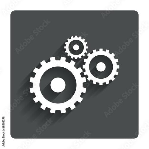 Fotografía  Cog settings sign icon. Cogwheel gear symbol.