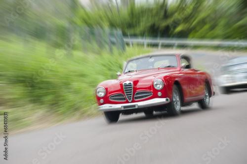 In de dag Vintage cars Vintage car with zoom effect