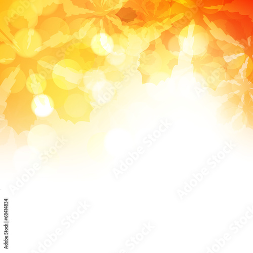 Obraz jesień wektor tło - fototapety do salonu