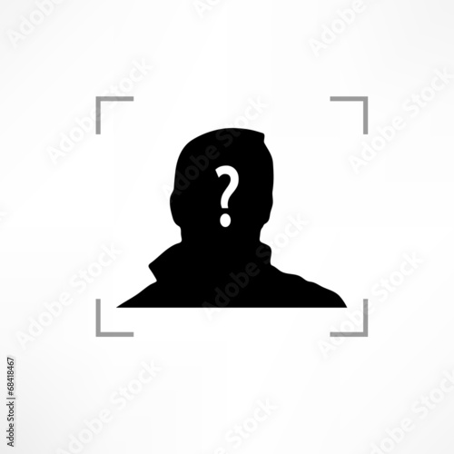 Fotografia  silhouette of unknown man in profile