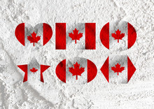 Flag Of Canada Themes Idea Design On Wall Texture Background