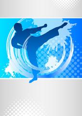 Panel Szklany Sztuki walki karate - 55