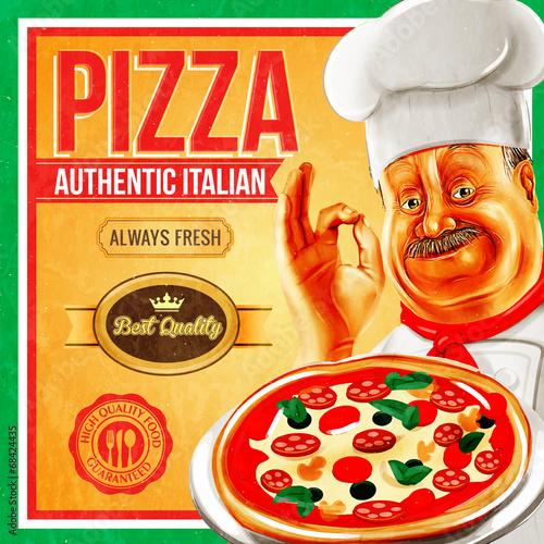 pizza vintage - 68424435