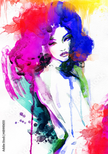 woman . watercolor illustration