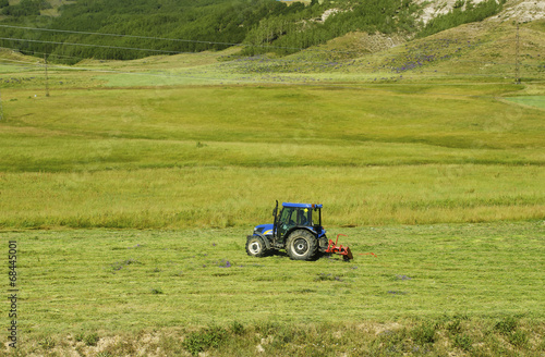 The Tractor on Middle of Field Poster