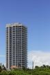 Building on a blue sky