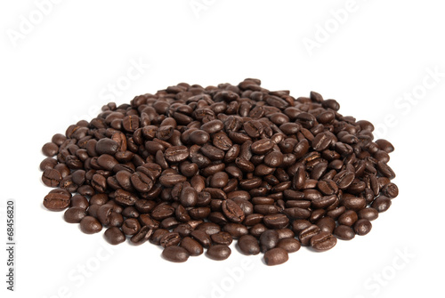 Aluminium Prints Coffee beans Coffee bean isolated on white background