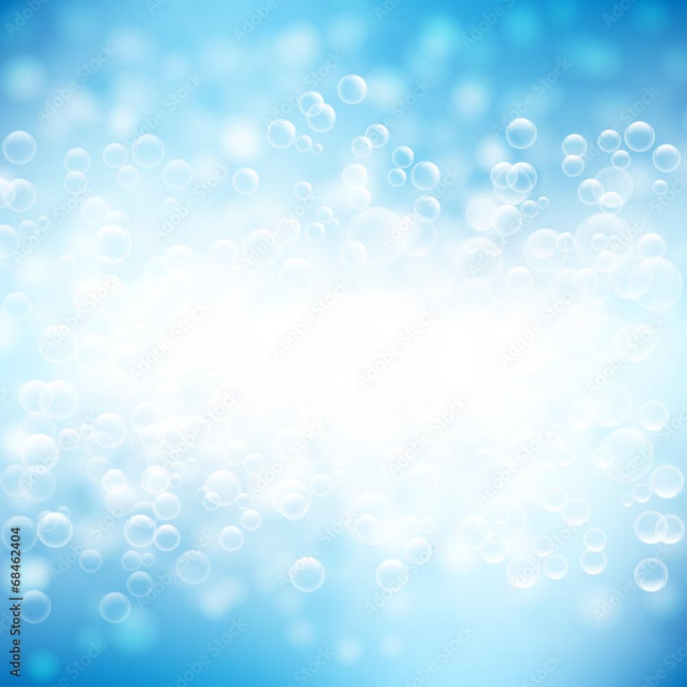 Fototapeta woda bąbelki tło wektor