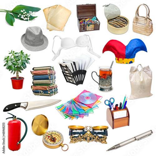 Foto  Einfache Collage von isolierten Objekten