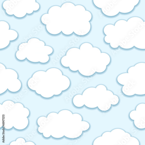 clouds seamless pattern - 68471213