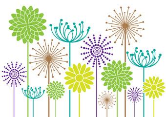 Naklejkacolor vector flowers background