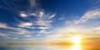 Leinwandbild Motiv Sky background on sunset.