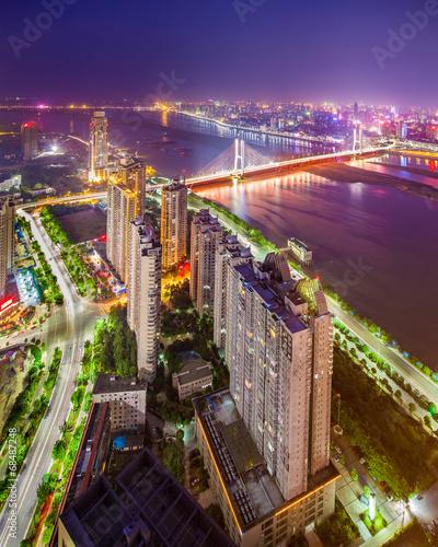 Staande foto Las Vegas Bird view at Shanghai China.