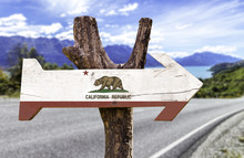 California State Wooden Sign W...