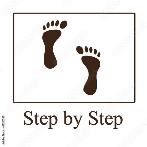 Fotografie, Obraz  step by step