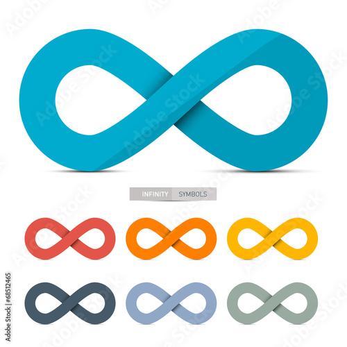 Fotografia  Colorful Paper Vector Infinity Symbols Set