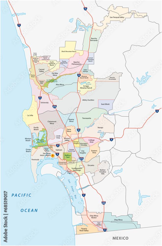 Gamesageddon Stock San Diego Administrative Karte