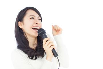 Fototapeta 歌う女性