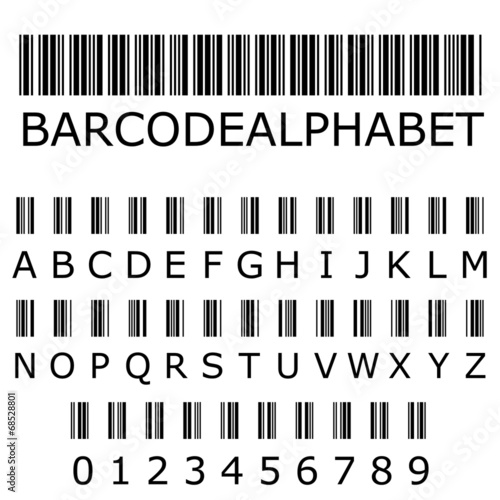 Illustration of Barcode Alphabet - Buy this stock