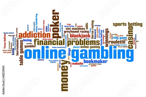 Online gambling - word cloud concept плакат