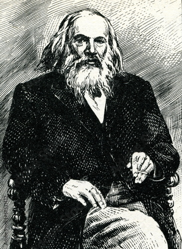 Photo  Dmitri Mendeleev, Russian chemist and inventor