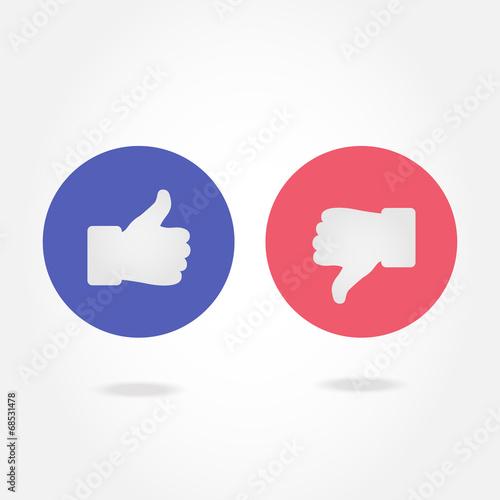 Like And Dislike Symbol Buy This Stock Vector And Explore Similar