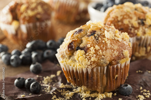 Homemade Blueberry Muffins for Breakfast Canvas-taulu
