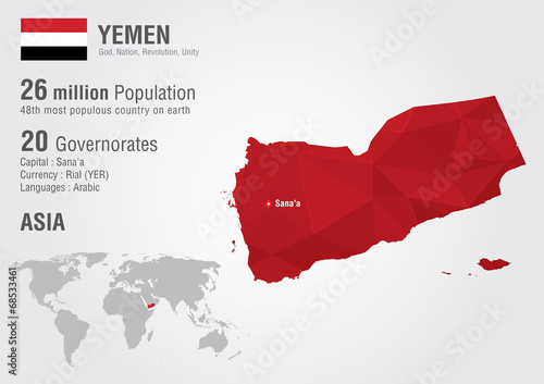 Yemen world map with a pixel diamond texture buy this stock yemen world map with a pixel diamond texture gumiabroncs Image collections