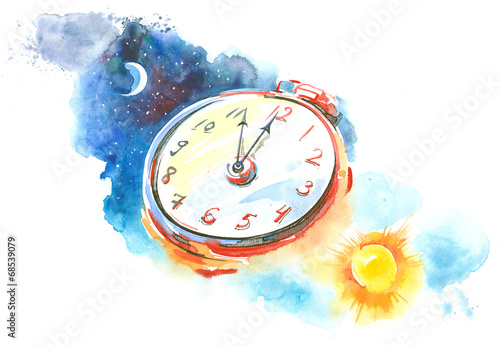 Photo Stands Paintings clock