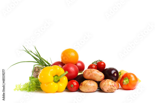Tuinposter Groenten vegetables isolated on a white background