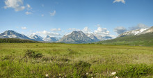 East Entrance Panorama Of Glacier National Park