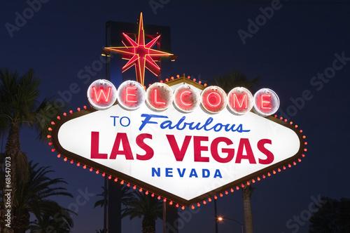 Poster Las Vegas Las Vegas Sign Night