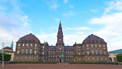Christiansborg Castle in the central Copenhagen, Denmark Canvas Print