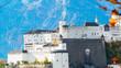 General view on historical city Salzburg, Austria