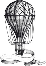 Vintage Hot Air Balloon With B...