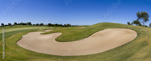 Deurstickers Golf Landscape view of a golf course in the Algarve.