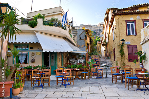 Canvas Prints Athens The scenic cafe